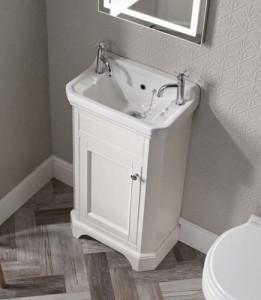 Tavistock DB850CLS Vitoria Cloakroom Basin 500 x 305mm 2 Tapholes White
