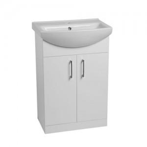 Tavistock DC12008 Opal 60cm Floorstanding Vanity Unit - White