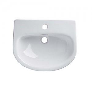 Tavistock - Loft Slim Depth Semi-Countertop Basin 500 x 200 x 400mm - White [DC14028]