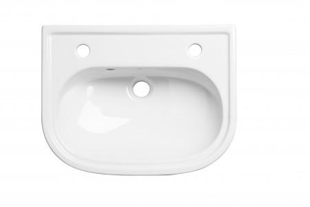 Tavistock - Lansdown 500mm Slim Depth Semi-Countertop Basin - 2 TH [DC14046]