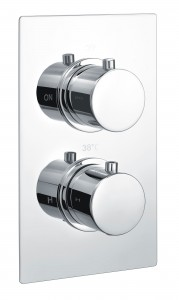 The White Space Concealed Shower Valve - Round Handle Dual outlet - Chrome [DC2]