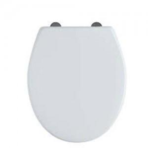 Tavistock Universal - Soft Close WC Seat with chrome hinges - Gloss White [DC4001]