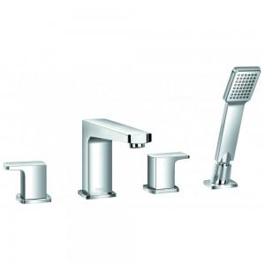 Flova DE4HBSM Dekka 4-Hole Bath & Shower Mixer with Shower Set