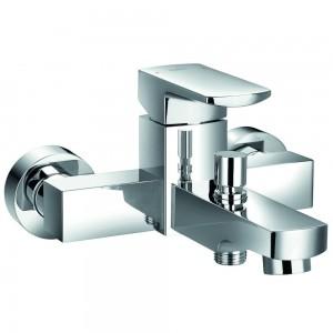 Flova DEWMBSM Dekka Wall Mounted Manual Single Lever Bath & Shower Mixer (exc Kit)