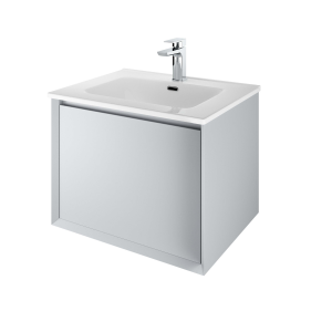The White Space DISF60MG Distrikt 61cm Wall Hung Vanity Unit - Mid Grey