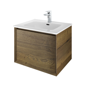 The White Space DISF60TO Distrikt 61cm Wall Hung Vanity Unit - Oak