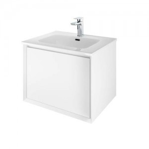 The White Space Distrikt Basin 610 x 460mm. One tap hole - White [DISB60]