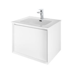 The White Space DISF60W Distrikt 61cm Wall Hung Vanity Unit - White