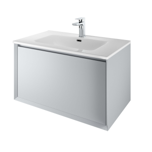 The White Space DISF80MG Distrikt 81cm Wall Hung Vanity Unit - Mid Grey