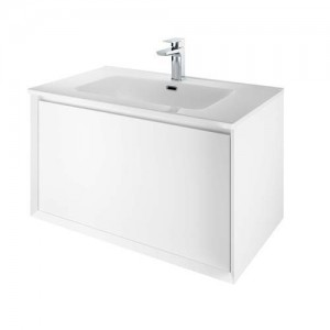 The White Space Distrikt Basin 810 x 460mm. One tap hole - White [DISB80]