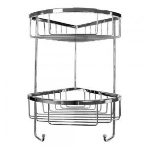 Roman - Double Corner Shower Basket with Hooks  [RSB05]