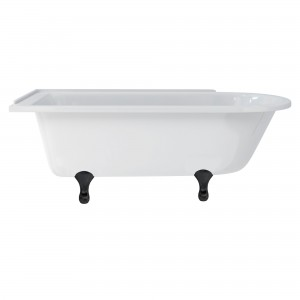 Burlington E10BLA Classical Bath Feet (Set of 4) Black