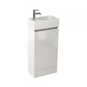 Imex Ceramics EC40FSWG Echo 400mm Single Door Floor Mounted Basin Unit White Gloss