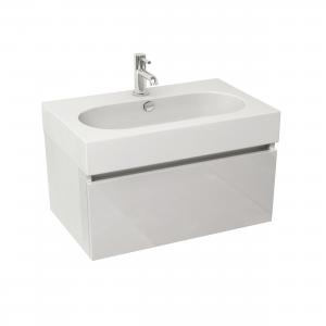 Imex Ceramics EC80WMWG Echo 800mm Single Drawer Wall Mounted Basin Unit White Gloss