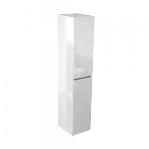 Imex Ceramics ECTSU150WG Echo Double Door Tall Storage Unit 1500mm White Gloss