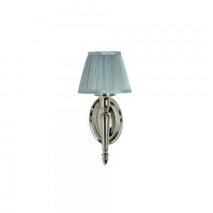 Arcade Chiffon Silver Pleated shade - 18.5 x 32.5h x 17cm. 40W G9 bulb. IP44 - Nickel  [ELAL15]