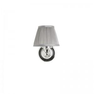 Burlington Chiffon Silver Pleated - Round Base 15.6(w) 22.5(h) 18(d)cm. 40W G9 bulb. IP44 - Chrome  [ELBL15]