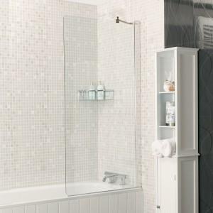 Roman - Embrace -  Fixed Bath Screen Silver       [EBS13S]