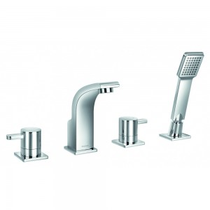 Flova ES4HBSM Essence 4-Hole Bath & Shower Mixer with Shower Set