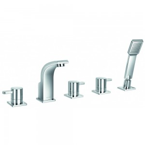 Flova ES5HBSM Essence 5-Hole Bath & Shower Mixer with Shower Set