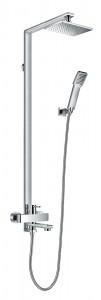 Flova ESBSMRR Essence Manual Exposed Shower Column with Handshower Set Overhead Shower & Diverter Bath Spout