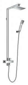Flova ESMSHVRR Essence Manual Exposed Shower Column with Handshower Set & Overhead Shower