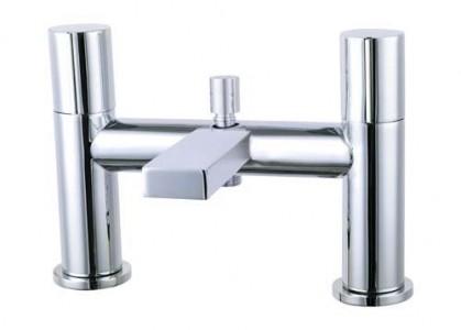 The White Space Evo Bath Shower Mixer with hose and handset - Chrome [EV3C]
