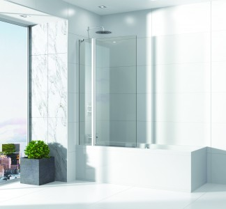Sommer EVODO8C Extended Half Radius Screen with Fixed Panel 1500 x 979mm - Chrome