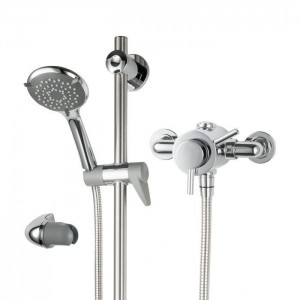 Triton 349415 Elina TMV3 Exposed Concentric Mixer Shower with Grab Riser Kit