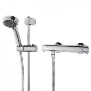 Triton 349369 Dene Hi-Flo Bar Mixer Shower with Riser Rail Kit