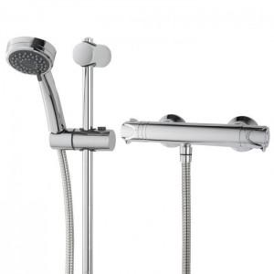 Triton 349370 Dene Cool Touch Bar Mixer Shower with Riser Rail Kit