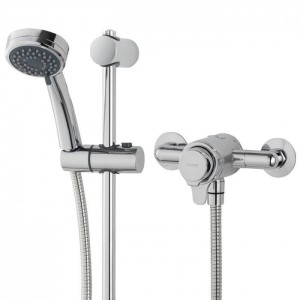 Triton 349373 Dene Concentric Exposed Mixer Shower with Riser Rail Kit