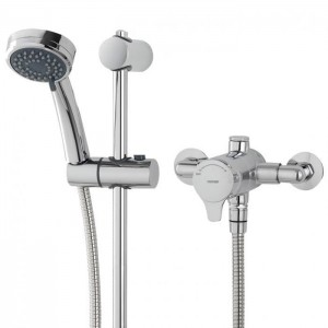 Triton 349374 Dene Sequential Exposed Mixer Shower with Riser Rail Kit
