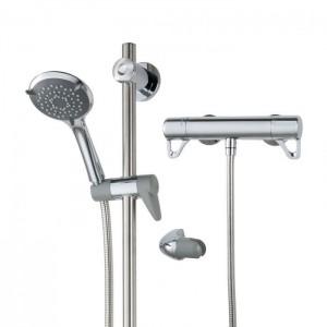 Triton 349417 Elina TMV3 Inclusive Bar Mixer Shower with Grab Riser Rail Kit