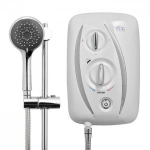 Triton 349475WC T80Z Thermostatic Fast-Fit Electric Shower 8.5kw White/Chrome