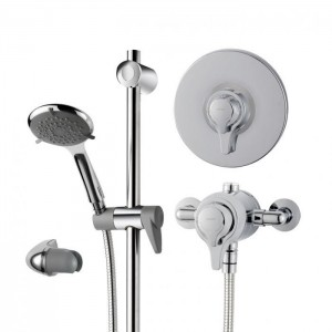 Triton 349968 Eden Extended Concentric Mixer Shower with Shower Head Chrome