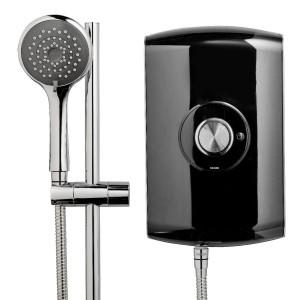Triton 349392BK Amore Electric Shower 8.5kw Black Gloss