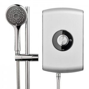 Triton 349392BS Amore Electric Shower 8.5kw Brushed Steel