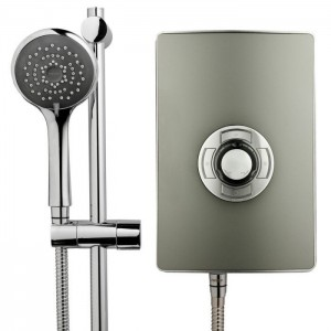 Triton 349350GM Aspirante Electric Shower 8.5k Gun Metal
