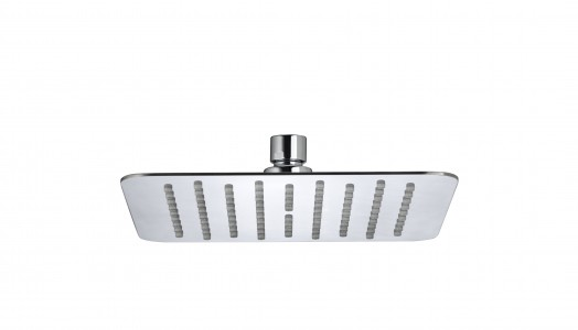 BRISTAN Stainless Steel Slimline 200mm Square Fixed Head