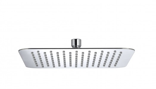 BRISTAN Stainless Steel Slimline 250mm Square Fixed Head