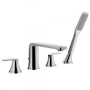 Flova FN4HBSM Fusion 4-Hole Bath & Shower Mixer with Shower Set