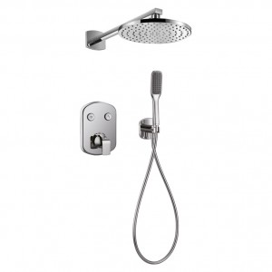 Flova FNT2WPK1 Fusion GoClick Thermostatic 2-Outlet Shower Valve with Fixed Head & Handshower Kit