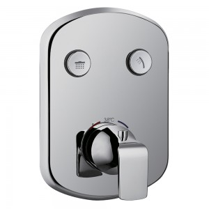 Flova FNTGO2 Fusion Thermostatic Concealed 2-Button GoClick Shower Valve