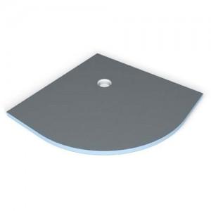 Wedi Fundo Borgo Shower Base Quadrant 100 x 100cm Corner Drain (55cm radius)  [073736576]