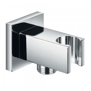 Flova FVKI121A Square Wall Outlet Elbow with Handset Holder