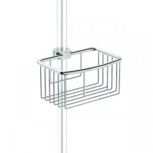 HIB ACSBCH02 (Chrome) Shower basket modern - Clip on riser 70 x 110mm
