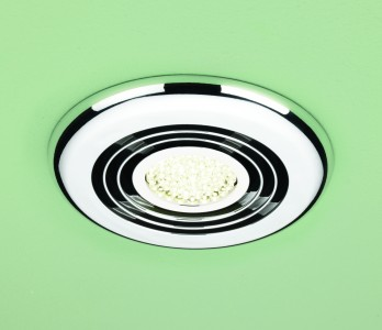 HIB 33700 Cyclone Wet Room Inline Fan Chrome - Warm White 145mm