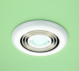 HIB 32600 Cyclone Wet Room Inline Fan White - Cool White LED 145mm