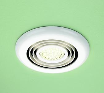 HIB 33800 Cyclone Wet Room Inline Fan White - Warm White 145mm